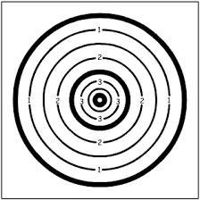 Blason ou carte pour le tir Beursault