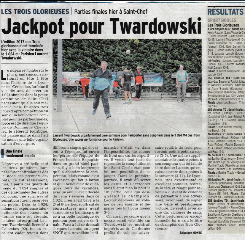 Jackpot pour Twardowsky