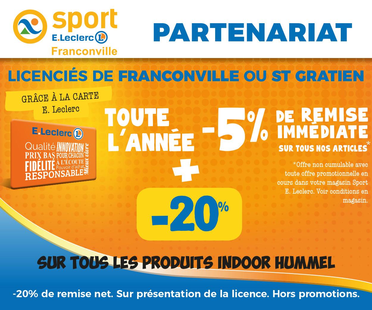 Partenariat avec Leclerc Sport Franconville
