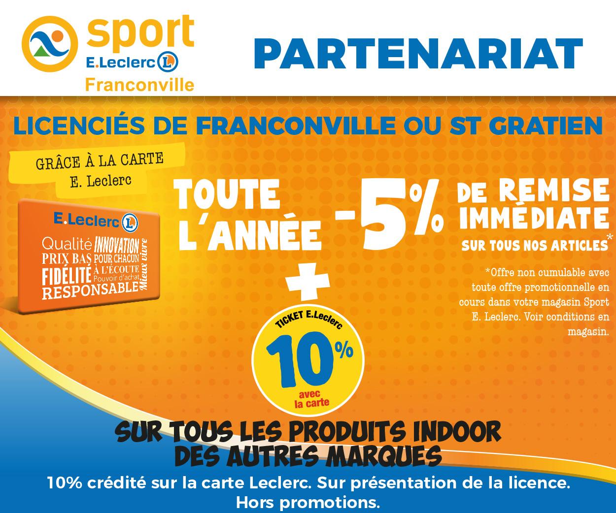 Partenariat avec Leclerc Sports Franconville