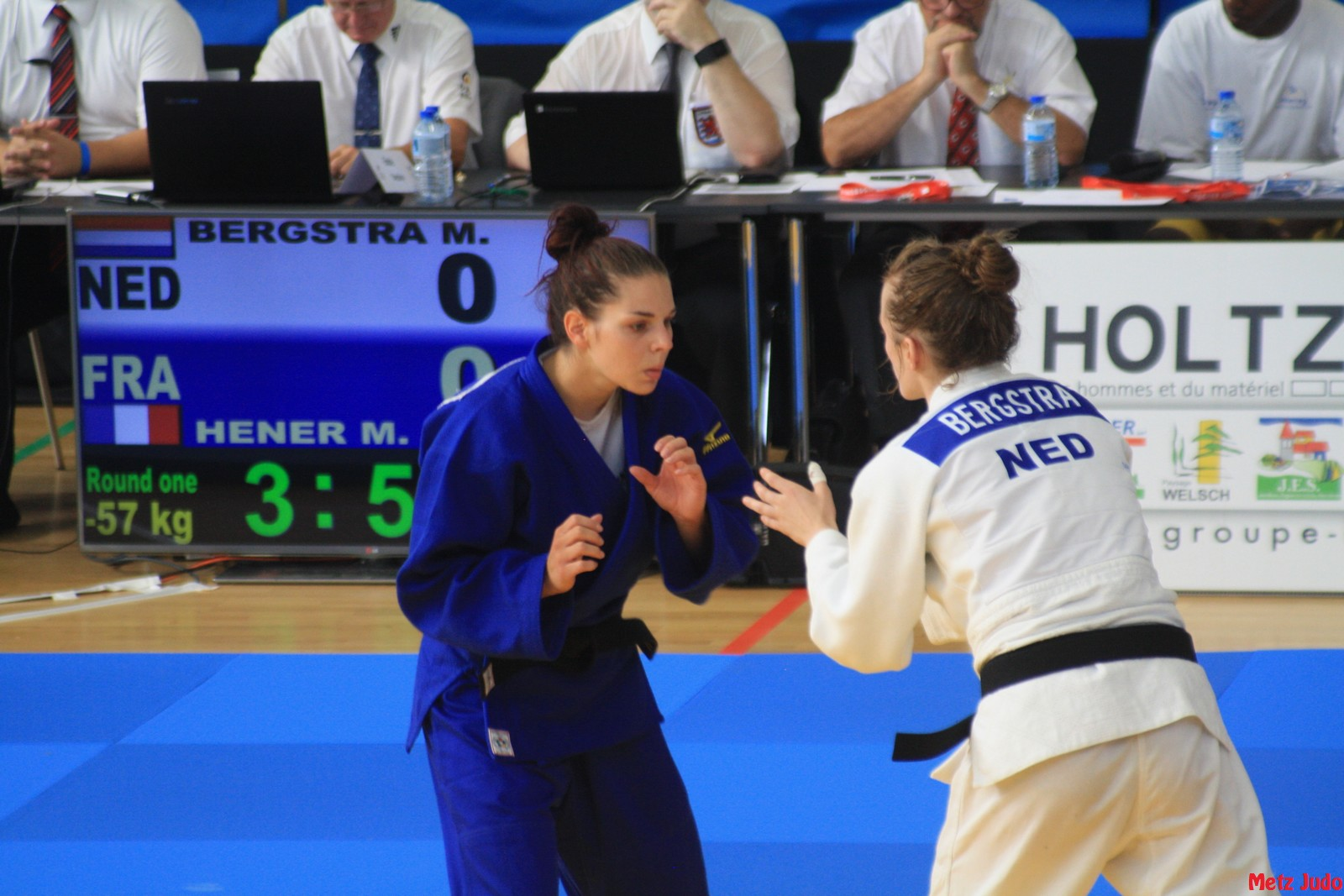 Marie Hener au Tournoi International de Sarrebück