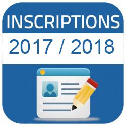 inscriptions 2017-2018