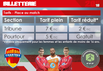 Place Tribune - Tarif plein : 7 € / Place Tribune - Tarif réduit : 2 € / Place Pourtour - Tarif plein : 5 €