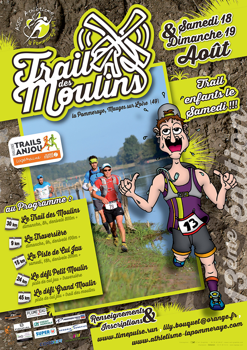 Affiche du Trail des Moulins 2018