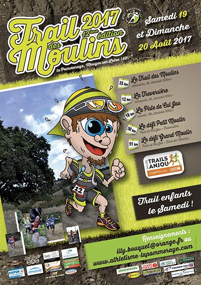 Affiche du Trail des Moulins 2017