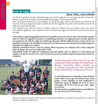 Journal Communal Cappelle-la-Grande - juillet 2014