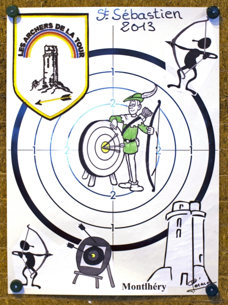 Carte de la saint Sébastien
