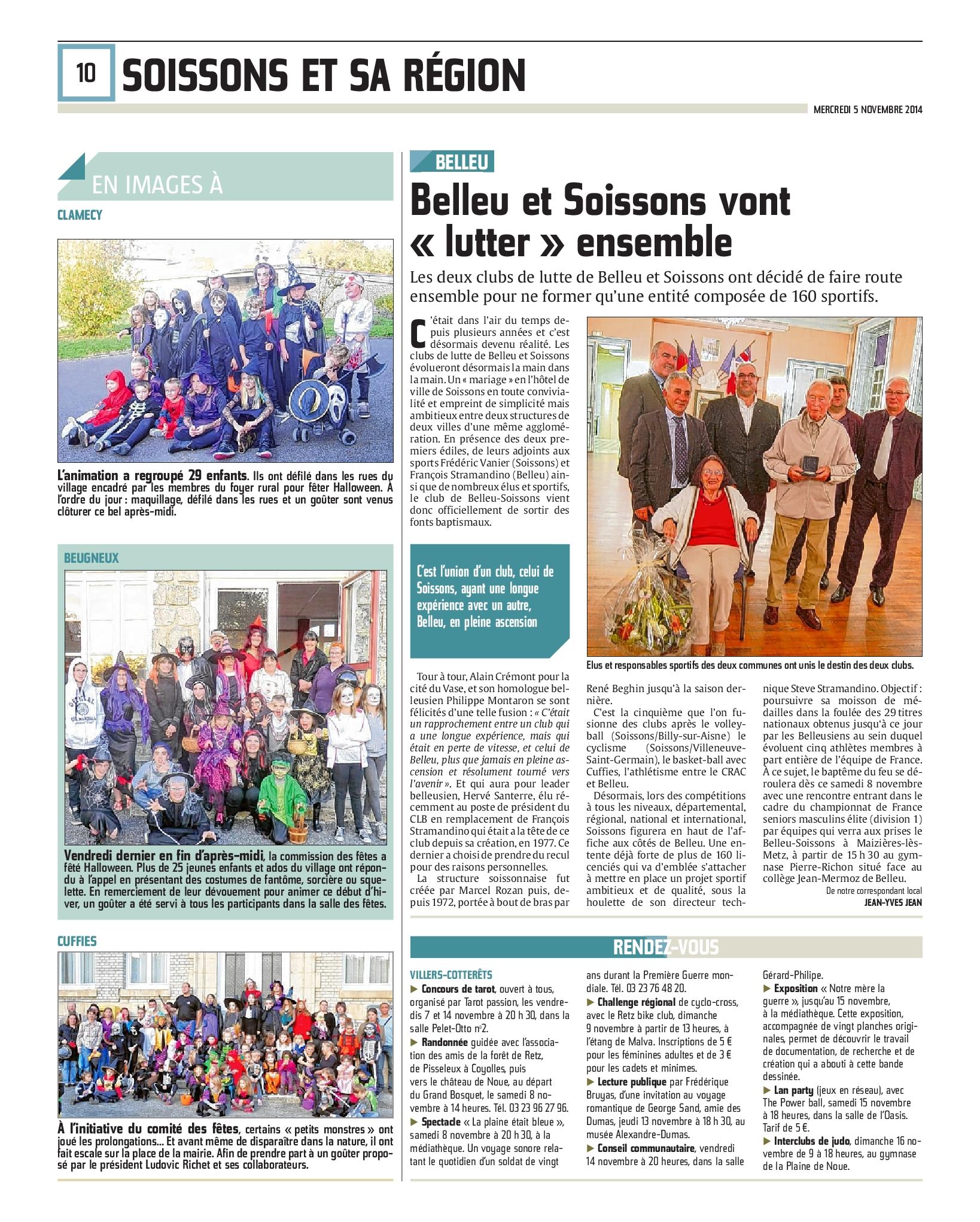 Belleu et Soissons vont« lutter » ensemble
