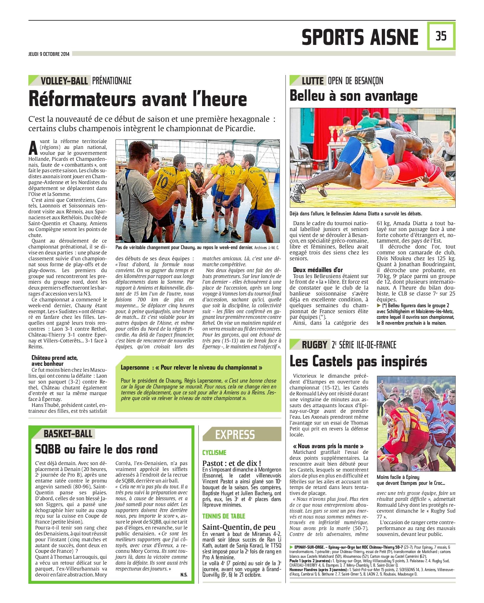 Open de Besançon- Belleu à son avantage